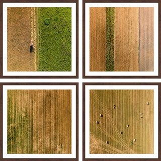 Link to Marmont Hill - Handmade Farming Quadriptych Similar Items in Art Prints