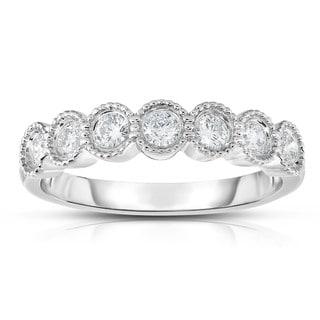 Noray Designs 14k Gold 1/2ct TDW 7-stone Diamond Milgrain Ring - White G-H