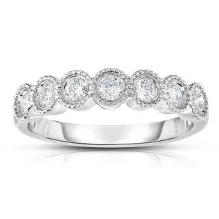 Noray Designs 14k Gold 1/2ct TDW 7-stone Diamond Milgrain Ring