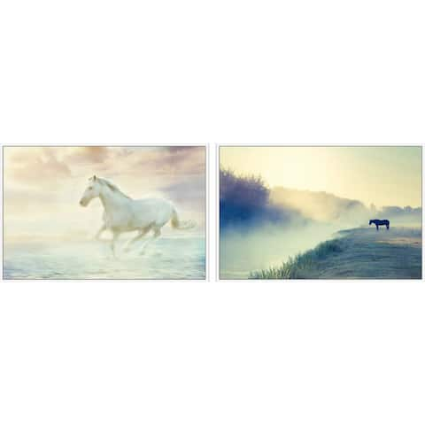 Marmont Hill - Handmade Horses in Nature Diptych