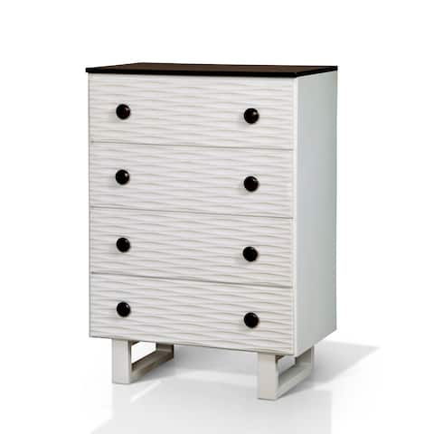 Trisha Contemporary Textured White 4-drawer Youth Chest by FOA