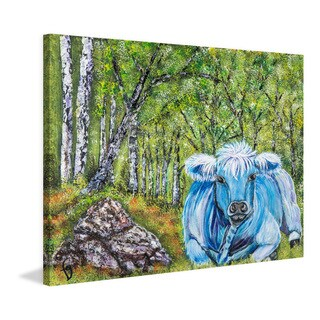 Marmont Hill - 'Bluebelle Ruminations' by France Gilbert Painting Print on Wrapped Canvas