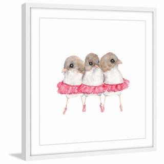 Marmont Hill - 'Ballerina Birds' by Thimble Sparrow Framed Painting Print