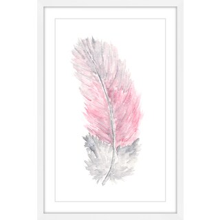 Marmont Hill - 'Pink Feather' by Thimble Sparrow Framed Painting Print