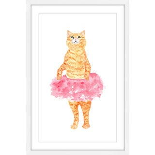 Marmont Hill - 'Ballerina Cat' by Thimble Sparrow Framed Painting Print