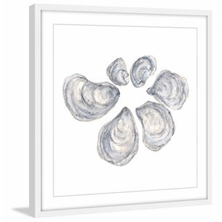 Marmont Hill - 'Oysters' by Thimble Sparrow Framed Painting Print
