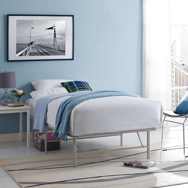 Shop Grey Horizon Stainless Steel Bed Frame Free