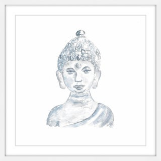 Marmont Hill - 'Buddha Statue' by Thimble Sparrow Framed Painting Print
