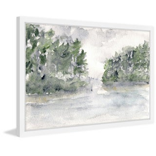 Marmont Hill - 'Rainy Lake Landscape' by Thimble Sparrow Framed Painting Print