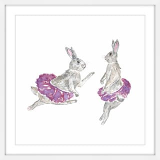 Marmont Hill - 'Dancing Rabbits' by Thimble Sparrow Framed Painting Print