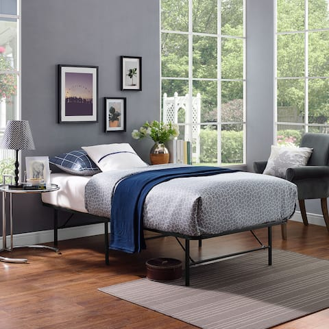 Brown Horizon Stainless Steel Bed Frame Size - Twin
