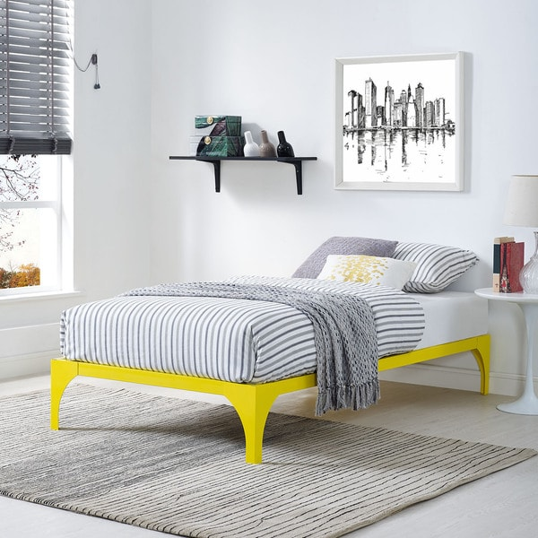 Shop Yellow Ollie Bed Frame - Free Shipping Today - Overstock.com ...