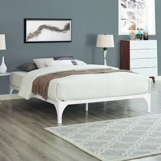 Style Mid Century Modern White Ollie Bed Frame