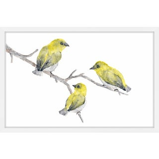 Marmont Hill - 'Yellow Birds' by Thimble Sparrow Framed Painting Print