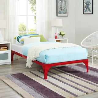 Ollie Red Twin-size Platform Bed