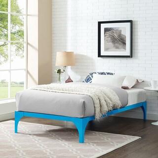 Ollie Light Blue Twin-size Platform Bed