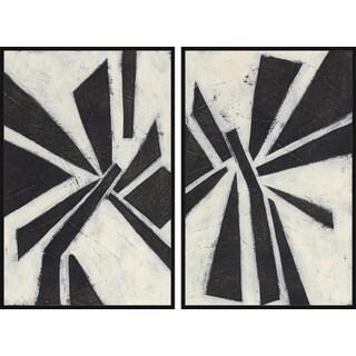 Pinwheel Diptych - Multi-color