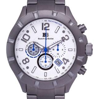Buech & Boilat Monument Men's Chronograph Watch Stainless Steel Case