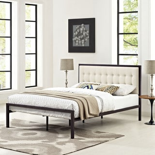 Brown Beige Millie Fabric Bed
