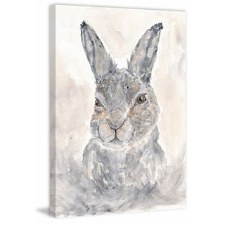 Marmont Hill - 'Misty Rabbit' by Thimble Sparrow Painting Print on Wrapped Canvas