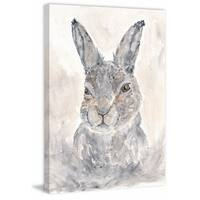Marmont Hill - 'Misty Rabbit' by Thimble Sparrow Painting Print on Wrapped Canvas - Multi-color
