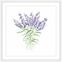 Marmont Hill - 'Lavender Herbs' by Thimble Sparrow Framed Painting Print - Multi