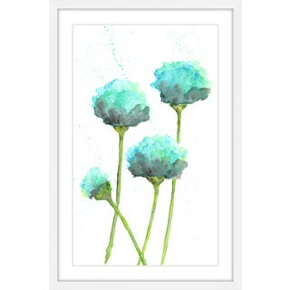 Marmont Hill - 'Mint Blue Poppies' by Thimble Sparrow Framed Painting Print