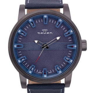 over 50mm watches overstock com the best prices on designer mens tavan haven men s watch genuine leather strap
