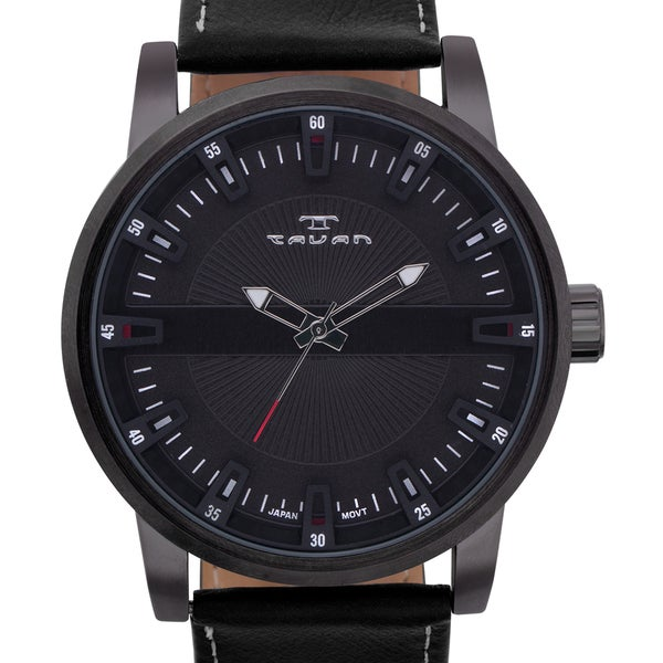 Tavan Haven Men's Watch Genuine Leather Strap Three Dimensional Dial