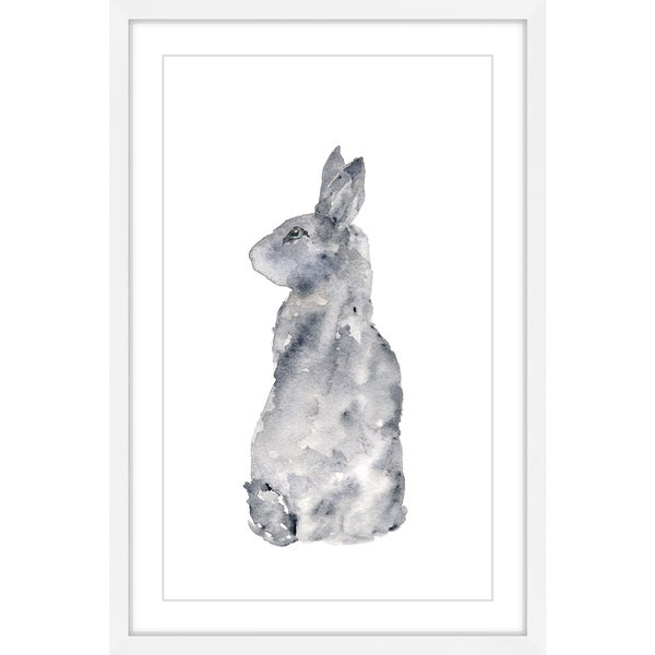 Marmont Hill - 'Rabbit Silhouette' by Thimble Sparrow Framed Painting Print
