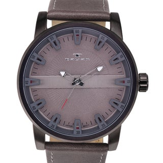 Tavan Haven Men's Watch Leather Strap Three Dimensional Dial