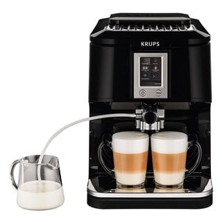 Krups EA8808 2-in-1 Touch 57-Ounce Fully Automatic Black Espresso Machine