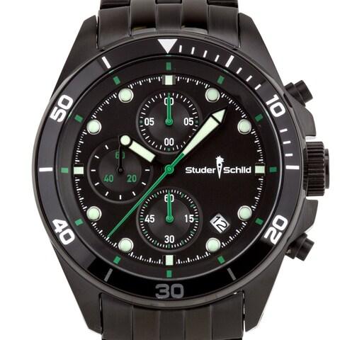 Studer Schild Morse Men's chornograph sport watch, stainless steel bracelet