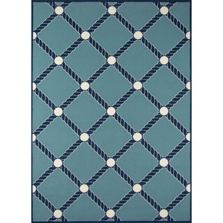 """Momeni Baja Nautical Rope Blue Indoor/Outdoor Area Rug - 2'3"""" x 4'6"""" (2 options available)"""