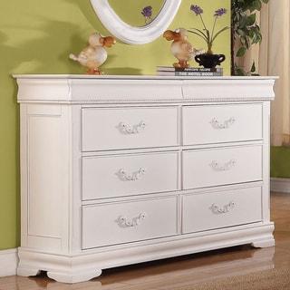 Acme Furniture 'Classique' White Pine 6-Drawer Dresser