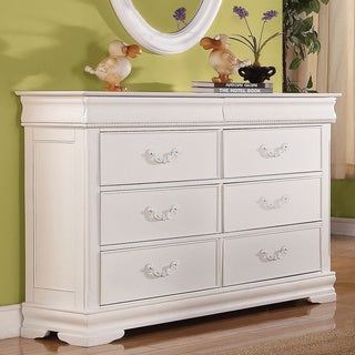 Acme Furniture 'Classique' White Pine 6-Drawer Dresser