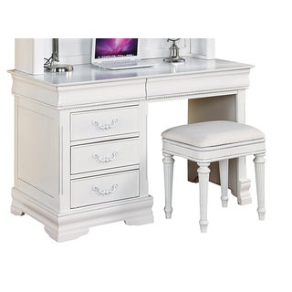 Acme Furniture Classique Computer Desk, White