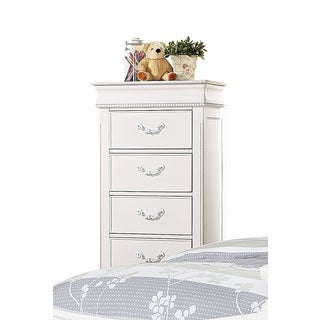 Acme Furniture 'Classique' Lingerie White Pine 4-Drawer Chest