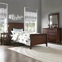 Dorel Living Auburn  Dark Chestnut Twin Bed