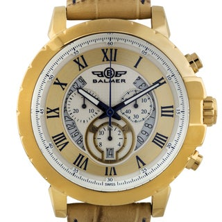 Balmer Atalante Swiss Chronograph Men's Watch Genuine Leather Strap