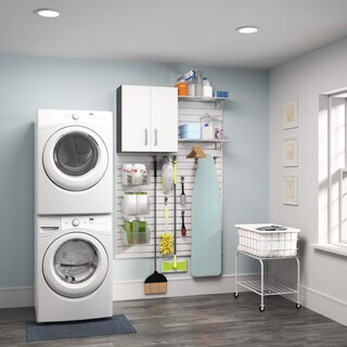 Flow Wall White 1-piece Laundry Cabinet Set