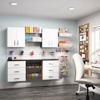 Flow Wall 5-piece White Craft Cabinet Set