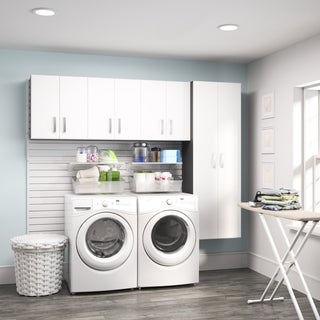 Flow Wall White 4-piece Laundry Cabinet Set
