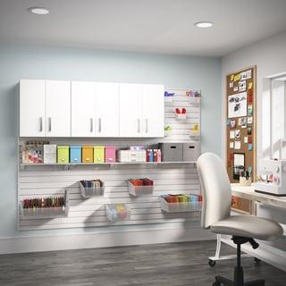 Flow Wall 3-piece White Craft Cabinet Set