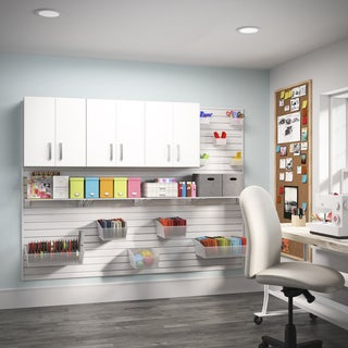 Flow Wall 3-piece White Craft Cabinet Set