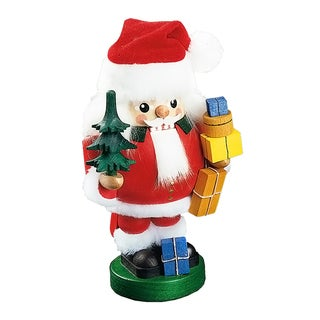 Richard Glaesser Santa with Tree Wood Nutcracker