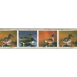 Brewster Multicolor Vinyl Duck Border