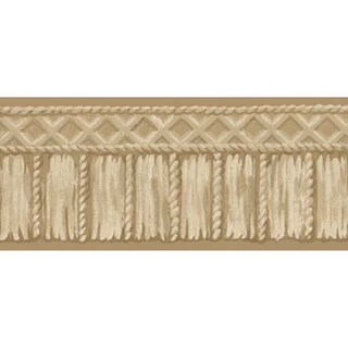 Brewster Beige Tribal Rope Border