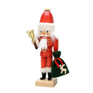 Christian Ulbricht Santa With Bell Multicolor Wood Nutcracker