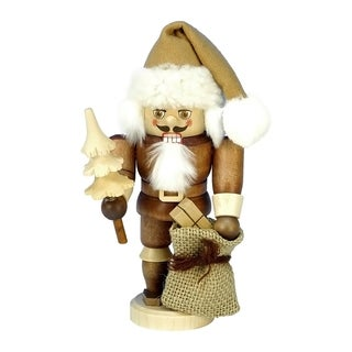 Christian Ulbricht Multicolor Wood Santa Mini Nutcracker